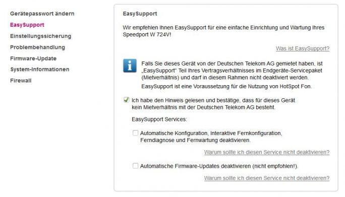 Telekom-Router können ebenfalls automatisch aktualisiert werden (Screenshot: Thomas Joos).