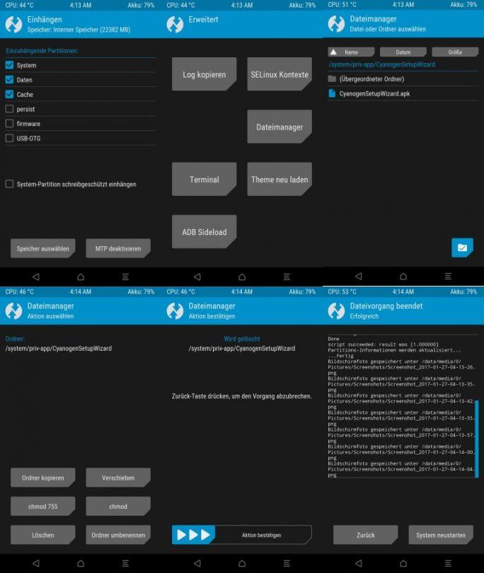 CyanogenSetupWizard löschen (Bild: ZDNet.de)