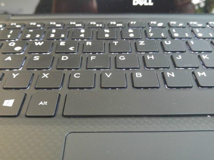 Dell XPS 13 Kaby Lake: Tastatur (Bild: ZDNet.de)