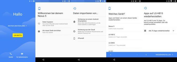 LineageOS: Mit dem Android-Wizard lassen sich Apps und Einstellungen wiederherstellen (Bild: ZDNet.de)