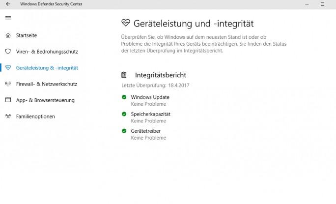 Der Integritätsbericht hilft dabei einen schnellen Überblick zur Stabilität von Windows 10 zu erhalten (Screenshot: Thomas Joos).