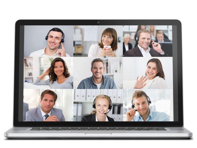 Bis zu neun Teilnehmer können Meetings in Echtzeit beiwohnen und weitere 10 Teilnehmer können sich per Audio beteiligen (Bild: Eyeson)