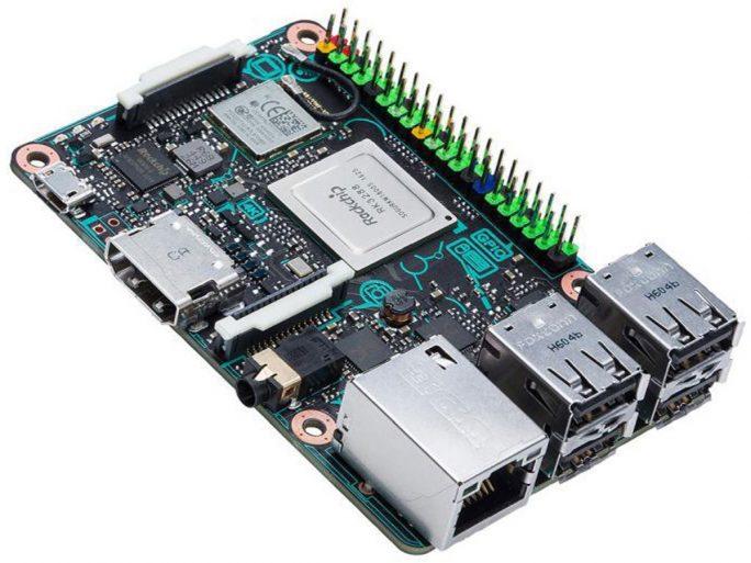 Das Asus Tinker Board ist mit einem ARM-RockChip ausgestattet. (Bild: Farnell)