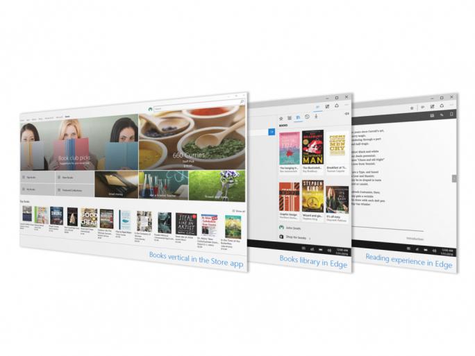 Windows 10 Creators Update bringt einen E-Book-Store, der Edge als Reader-App nutzt (Bild: Microsoft).