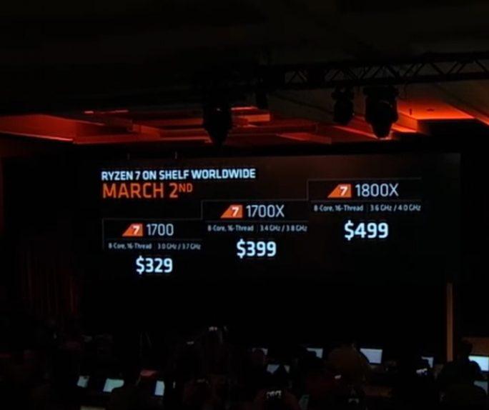 AMD bietet den Ryzen 7 zum Start in drei Varianten mit jeweils acht Kernen an (Bild: AMD).