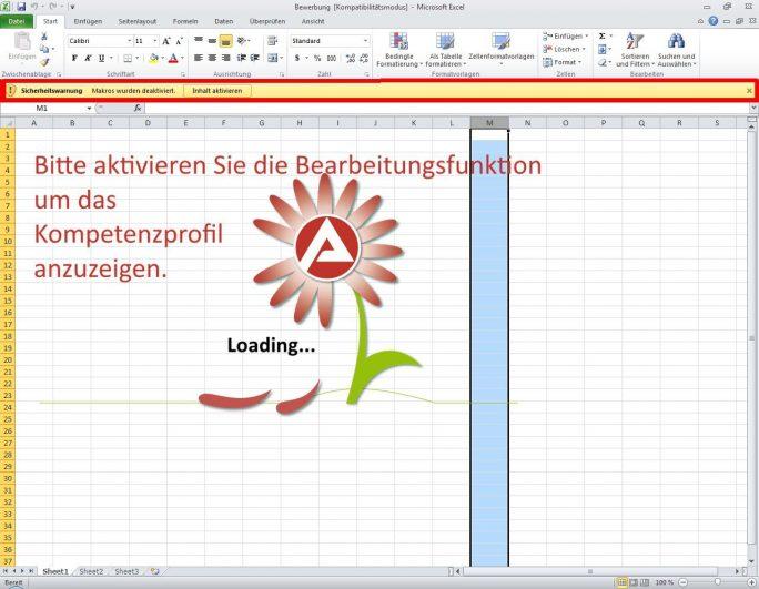 Anfang Dezember hatte die Polizei Personalabteilungen vor der Schadsoftware Goldeneye gewarnt, die in solchen Excel-Mappen mit vermeintlichen Bewerbungen ausgeliefert wird. Auch hier verwendeten die Angreifer Makros (Bild: CERT-Bund)