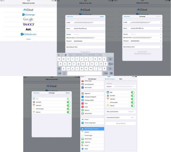 Office 365: iOS-Setup (Screenshot: ZDNet.de)