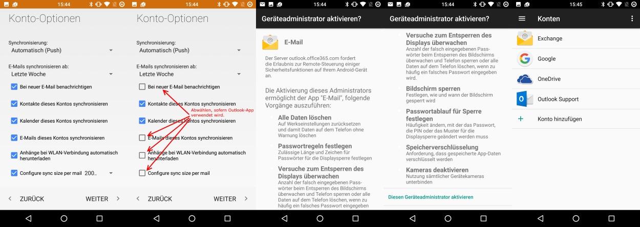 e mail deaktivieren android