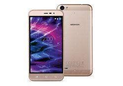 Aldi Nord bietet das LTE-Smartphone Medion Life E5006 in den Farben Silber oder wie hier in Amber-Gold  (Bild: Medion)