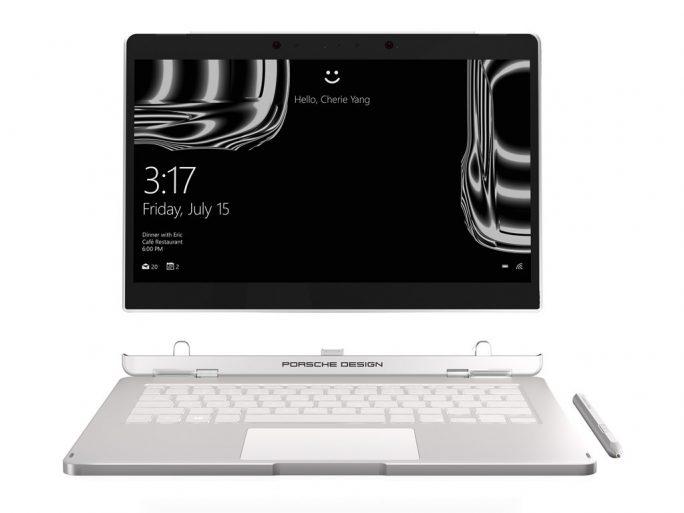 Das Book One ist ein 2-in-1-Gerät mit abnehmbarer Tablet-Einheit (Bild: Porsche Design).