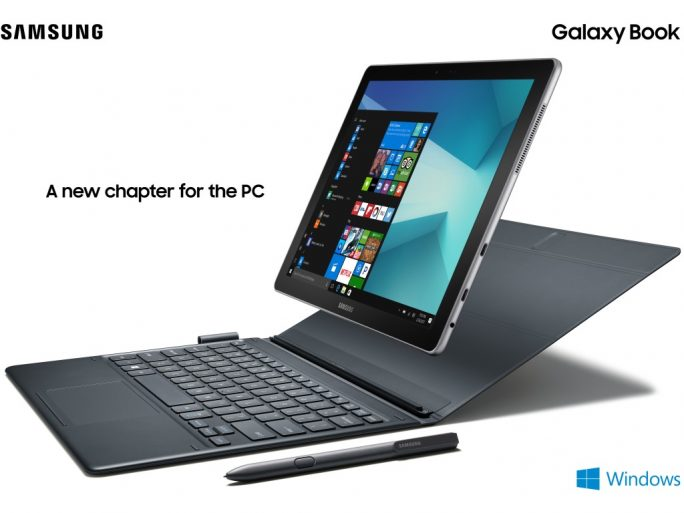 Das 2-in-1-Tablet Galaxy Book stattet Samsung mit Windows 10 aus (Bild: Samsung).