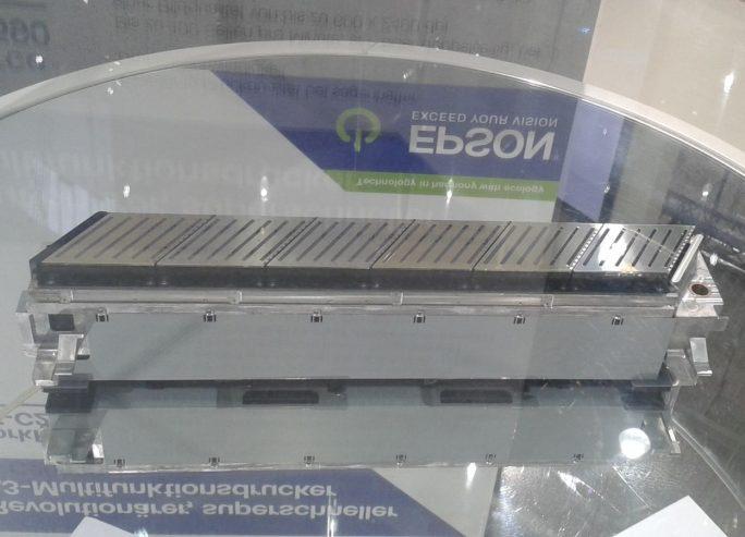 Für seine kommenden Druckgeräte kombiniert Epson sechs Druckköpfe zu einem einzigen, seitenbreiten Druckkopf (Bild: silicon.de)