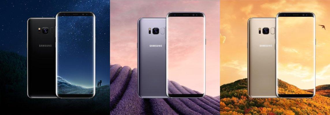 galaxy s8  bilder zeigen das smartphone in unterschiedlichen farben