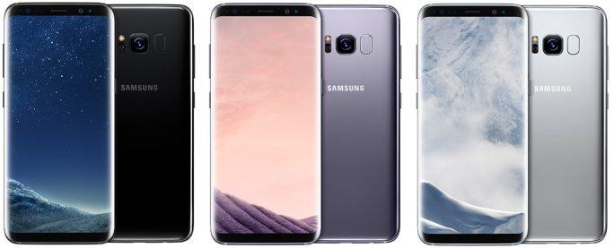 Galaxy S8: Schwarz, Grau, Silber (Bild: Samsung)