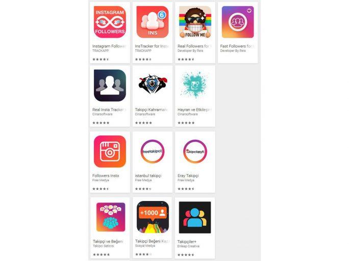 Forscher des europäischen Security-Software-Herstellers ESET haben insgesamt 13 Fake-Apps entdeckt, welche vorgaben, Tools für das Erhöhen oder Steuern von Instagram-Follower-Zahlen zu sein (Bild: Eset)