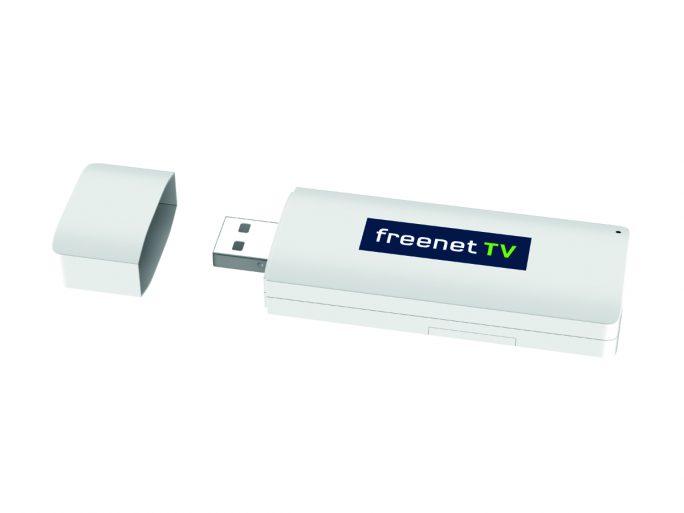 Freenet TV USB-Stick für den DVB-T2 HD-Empfang  an PCs, Notebooks und Macs (Bild: Freenet)