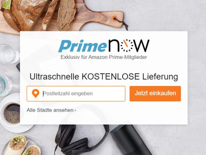 Amazon Prime Now (Screenshot: ZDNet.de)