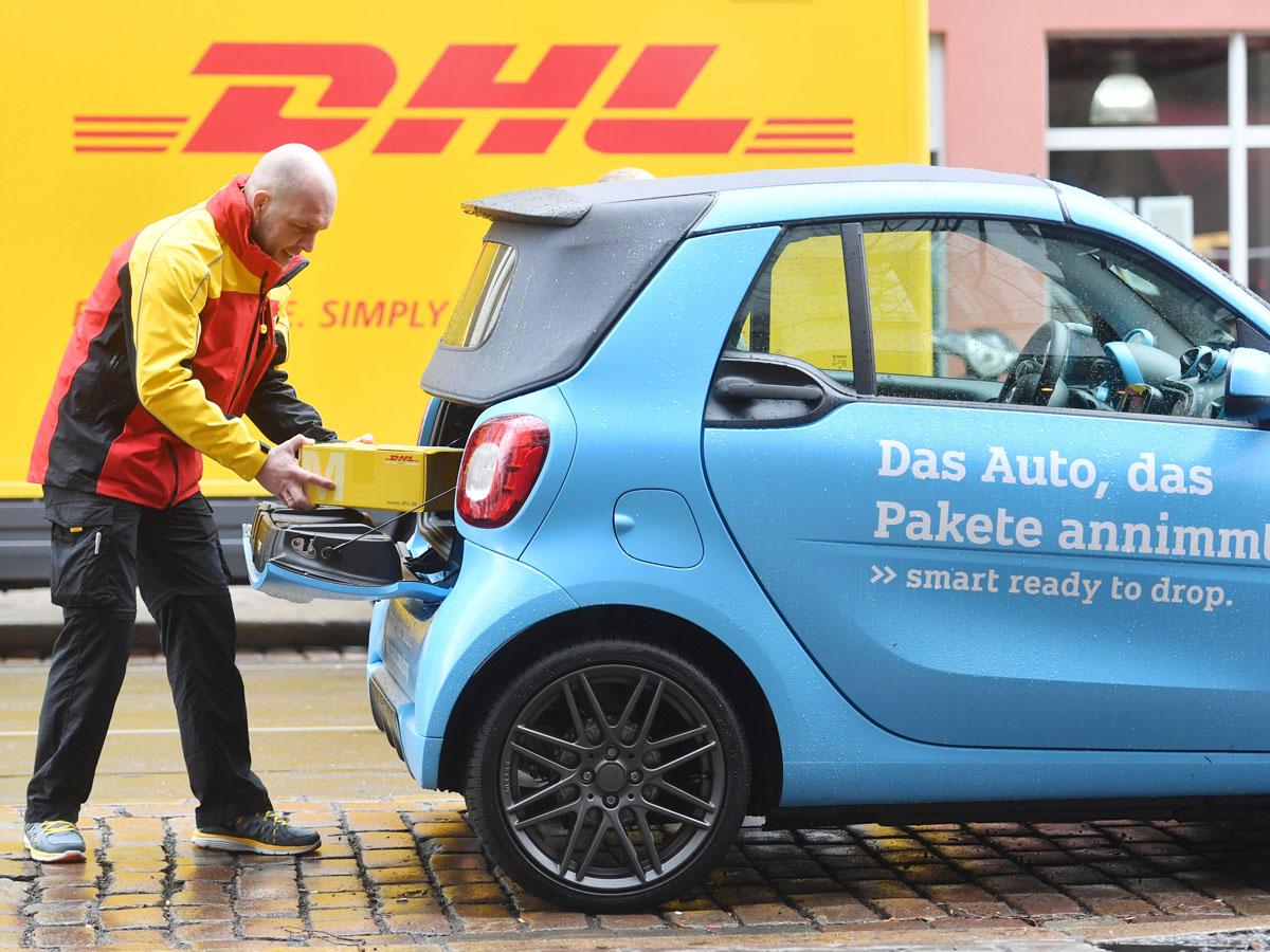 Dhl Und Smart Weiten Kofferraumzustellung Smart Ready To Drop Auf