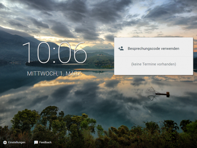 Google Meet im Browser (Screenshot: ZDNet.de)