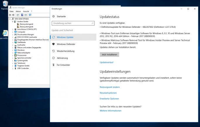 Nach der Installation von Windows Server 2016 müssen noch die aktuellen Treiber und Windows-Updates auf den Server installiert werden (Screenshot: Thomas Joos).