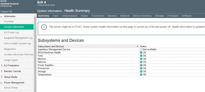 Mit iLO 4 können Administratoren mit wenigen Klicks Informationen zu Servern abrufen (Screenshot: Thomas Joos).
