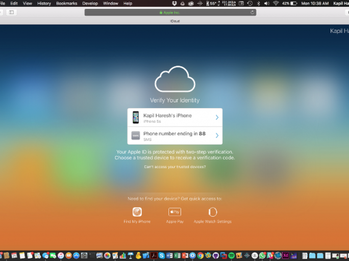 "Fernlöschung über ""Find My iPhone"" bleibt möglich (Screenshot: Kapil Haresh)."