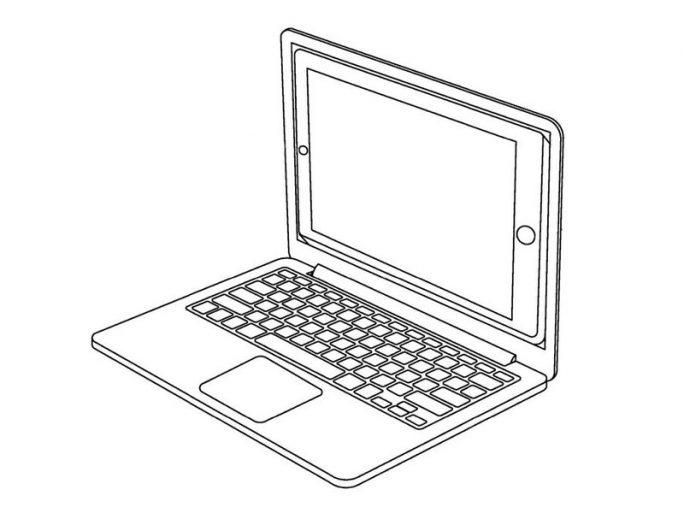 iPad als Display (Bild: Apple / USPTO)