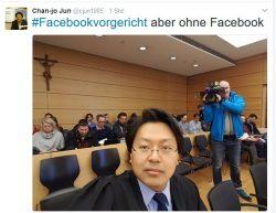 Anwalt Chan-jo Jun bei der Urteilsverkündung im Landgericht Würzburg. (Screenshot: silicon.de bei Twitter)