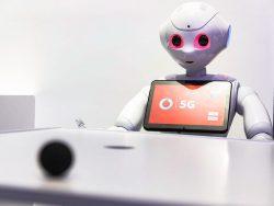 Vodafone und TU Dresden zeigen humanoiden Roboter Pepper (Bild: Vodafone).