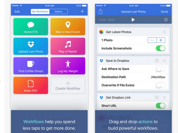 Workflow auf dem iPhone (Bild: DeskConnect)