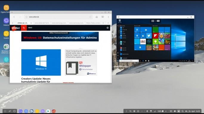 Samsung DeX: Zugriff auf Windows über Remote Desktop (Bild: ZDNet.de)