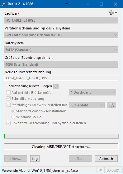 USB-Stick erstellen: Windows 10 1703 Creators Update (Screenshot: ZDNet.de)