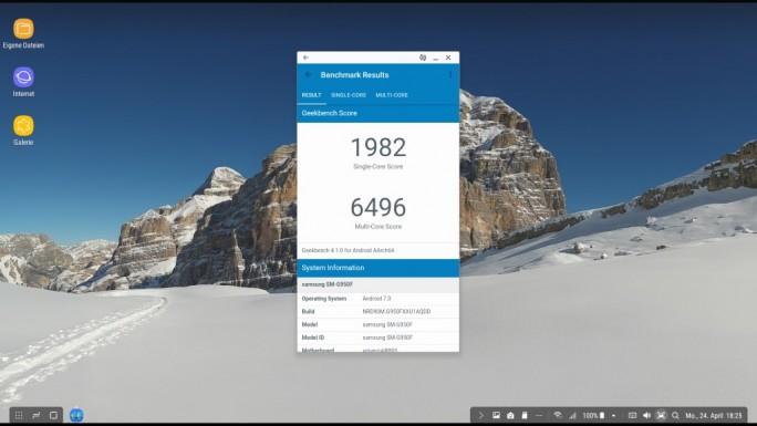 Galaxy S8 Geekbench (Screenshot: ZDNet.de)