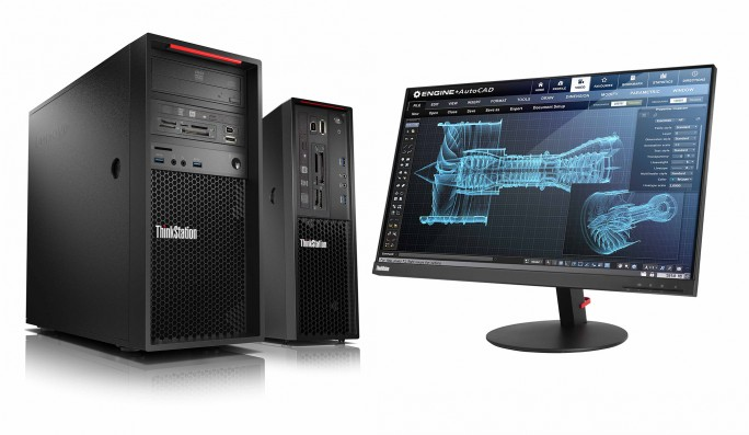 Lenovo Thinkstation mit Monitor (Bild: Lenovo)