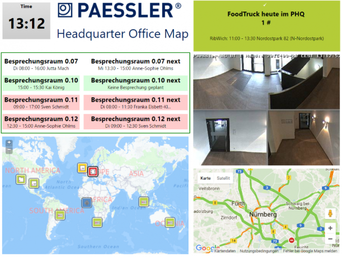 Die PRTG-Office-Map Paessler