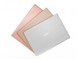 Acer Swift 1 in den Farben Salmon Pink, Luxury Gold und Pure Silver (Bild: Acer)