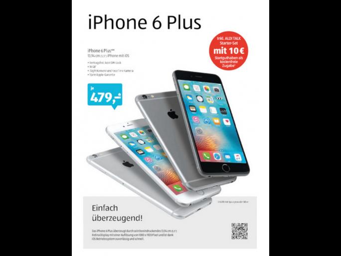 Apple iPhone 6 Plus bei Aldi Süd (Bild: Aldi)