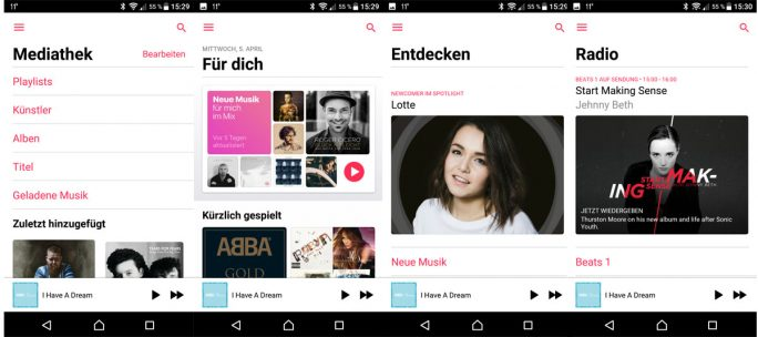 Apple Music für Android 2.0 (Screenshots: ZDNet.de)