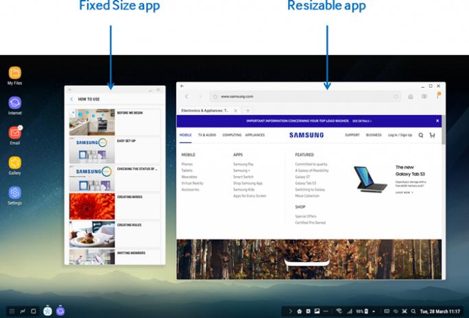 Samsung DeX: App-Modi (Bild: Samsung)