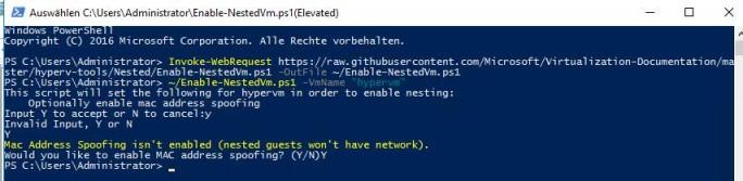 Mit der eingebetteten Virtualisierung kann Hyper-V innerhalb von Hyper-V-VMs installiert werden. Sinnvoll ist das für Testumgebungen oder Container-Hosts (Screenshot: Thomas Joos).