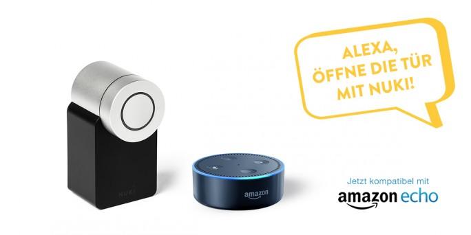 Ab sofort kann das Smart Lock auch über Amazon Alexa gesteuert werden (Bild: Nuki Home Solutions)