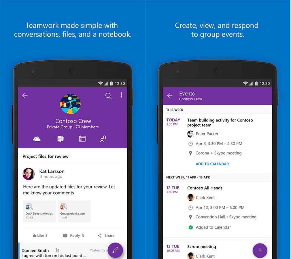 Microsoft integriert Groups in Outlook für Android, iOS und Mac