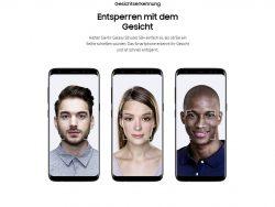 Gesichtserkennung des Samsung Galaxy S8 (Bild: Samsung)