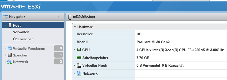 vSphere 6.5 auf HPE-Servern betreiben