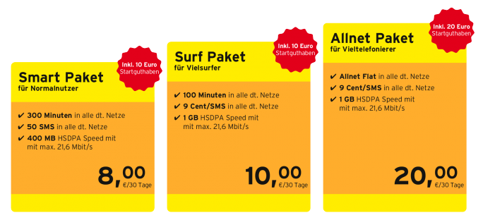 Congstar bietet ab 23. Mai drei neue Prepaid-Tarife an (Bild: Congstar)