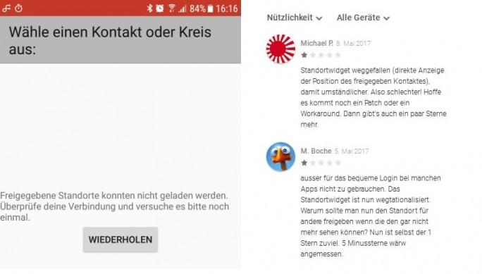 Endgültig Schluss: Google schaltet Standort-Widget ab (Bild: ZDNet.de)