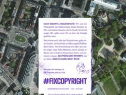 Mit dem virtuellen Abwurf von Flugblättern auf Wahrzeichen in europäischen Großstädten können Nutzer dazu beitragen, dass EU-Politiker über ihre Social-Media-Kanäle zu zeitgemäßen Urheberechtsreformen aufgefordert werden (Screenshot: silicon.de)
