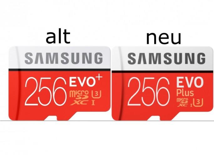 Samsung: alte EVO+-Serie und neue EVO Plus-Reihe (Bild: ZDNet.de)
