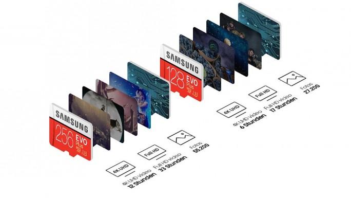 Samsung EVO Plus 256GB: Speicherkapazitaet nach Anwendung (Bild: Samsung)