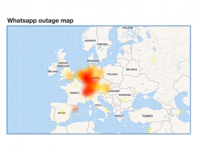Whatsapp: Ausfall dauerte zwei Stunden (Screenshot: ZDNet.de)